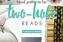 Patterns for two hole beads