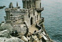 Medievality, Castles, Cathedrals, Enchantedness, & Surrealism.