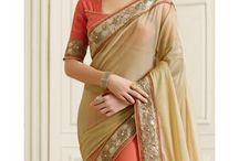 Half and Half Sarees / Indian women's fashion, trends and style