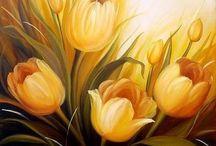 cuadros con tulipanes