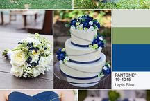 Wedding Ideas Green and blu