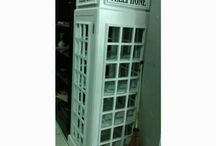 telephone armoire wood