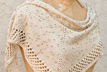 Knitting shawls, ponchos, wraps