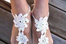 Sandalias tejidas al crochet
