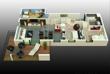 Aménagement intérieur Trianon / Comment aménager votre futur appartement ? Voici quelques pistes d'inspiration ;)
