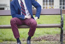 Men's preppy style: Elegant outfits. Men's fashion. / Elegant preppy stylizations, outfits. Starring: Jacket, shirt, chinos, tie, bow tie, penny loafers, oxford shoe, monk shoe.