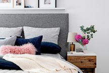Bedroom wall deco & side table