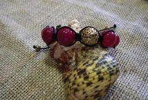 shamballa bracelets / shamballa bracelets with semi-precious stones and silver
