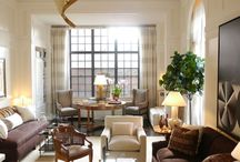 Living Rooms / Alternative arrangements to the formal sofa, coffee table and arm chairs