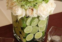 Flowers for centre piece limes