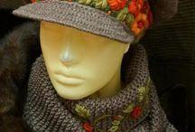 Вязаные шапки / Вязаные крючком и на спицах шапки
