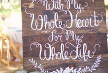 Steph - wedding decor ideas!! / Wedding ceremony and reception styling