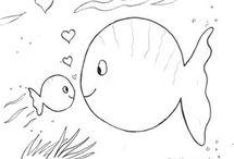 petit poisson blanc / maternelle activites