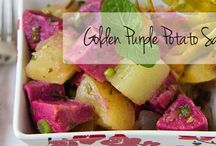 """Mardi Gras / Louisiana favorite recipes and fresh produce in Purple, Green, and """"Gold"""""""