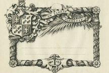 Ex libris with heraldry