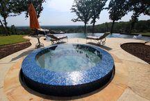 Spas / Various designs of spas in pool spa combos.