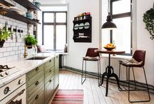 Kitchen & Dining Furniture / #Styletip! Strategy for Eat-In Kitchens: What kind of seating do you request at a restaurant? It may hold the key to setting up your kitchen table. Bring in a cafe table. All it takes is one empty corner and it's in, it's a great way to eke out an eat-in spot when space is limited. Available at #INVHome