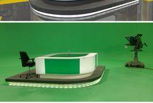 Virtual set tv
