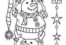 Sněhuláci omalovánka I