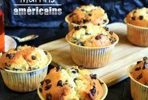 Muffin américain aux pépites de chocolat
