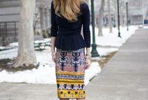 Chic skirts