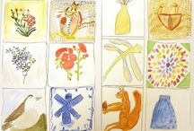 Inspired by... / 'Inspired by' is a national competition for people in part-time education. Participants create a work of art or craft inspired by items in the Victoria and Albert Museum's collection. The pictures were created by learners on our Painting in Watercolours course.
