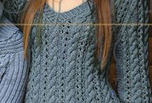 пуловер,джемпер,свитер спицами