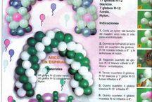 diseños con globos