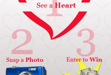 Show Us Your Heart / We know you've got heart, now we want to see it! Take a photo of a heart (virtually anywhere) and upload it to our Facebook contest between May 9 and June 9, 2014 at http://woobox.com/ai2ryk - you could win up to $200!