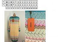 Fale,Zigzagi Missoni / Wolny, zigzagi. Wzory kolorowe