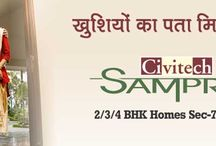 Civitech Sampriti / Civitech Sampriti Noida Sector 77 presents you with your home close to nature. The project is located in the heart of Noida in which enjoys the connectivity from major parts of city.