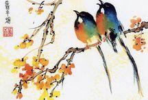 Watercolor / Acuarela / Sumi-e / Ideas para mis acuarelas