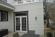 Artisan by James Hardie   Soffit + Fascia   Webster Groves, MO. (63119) / This is a siding remodel job that was completed in Webster Groves, a suburb of Saint Louis, Missouri. It features Artisan by James Hardie in Arctic White. Also it includes HardieTrim in a custom black color.