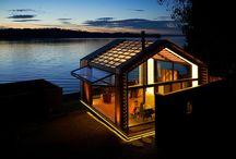 Modular Home CCH. / Casa Modular de 50m2 con cubierta a dos aguas, interiores y detalles en madera de estructura metálica. Precio 55.000€.