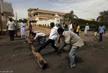 Sudan closes office 'Arab' ... and spread trucks loaded with anti-aircraft guns central Khartoum.