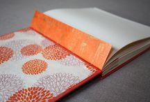 Handmade wedding guest books / Wedding guest books handbound by Katie Gonzalez of linenlaid&felt in Nashville, Tennessee.