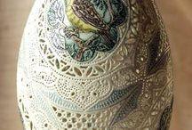 Ovos De Pascoa De Ceramica Pintados