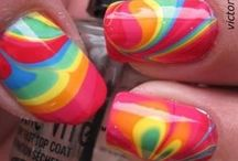 Inspiration - Nail Art - Water Marble / Please see my other Boards for Nail Polish, Nail Art, Christmas & Stamping / by ICR84U