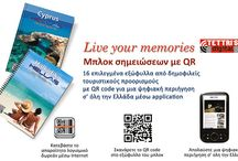 "SMALL NOTEBOOKS WITH QR AND SPIRAL ""LIVE YOUR MEMORIES"""