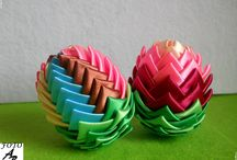 Easter ribbon method / Metoda wstążkowa Wielkanoc / Table contains the Easter decorations made by me using ribbon. I recommend :)  Tablica zawiera ozdoby Wielkanocne wykonane przez mnie metodą wstążkową. polecam :)