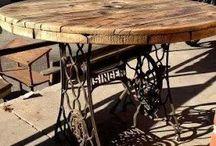 stůl ze šicího stroje