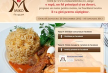 Case study - Miko Restaurant / Miko is a Hungarian restaurant, much appreciated for its delicious food and friendly ambiance. However, their Facebook fans weren't very active, so Zoniz came up with a solution for that: daily posts about the restaurant and photos of their dishes, plus two online contests promoted through offline advertising - printed flyers placed on the tables.