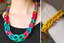diy necklace-κολιέ
