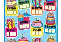decoración de salón de clases cumpleaños