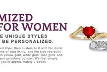 Custom Rings for Women / Customized Rings for Women Each of these unique styles are ready to be personalized. To start choose your desired style, then customize it with the metal of your choice, and the gemstones of your liking and the size that you want. These rings are available in yellow gold, white gold, rose gold, and sterling silver, and with many gemstone options. It's that simple. And we'll have it made for you in approximately 2 weeks.