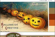 Halloween Card Inspiration / The Kraft Journal Challenge Blog Halloween Color Challenge.