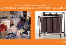 Laundry Room Organization / Tips, Tricks, Hacks. Everything you need to know for organizing  Laundry Room
