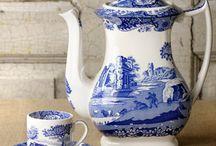 porcelana antigua azul
