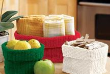 Crochet containers and storage