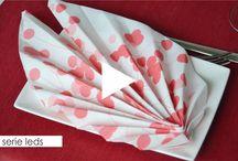 Plegado servilletas